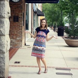 Aryeh Multi-Colored Patterned Dress